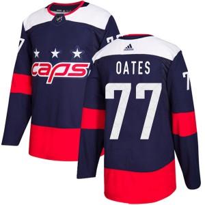Washington Capitals Adam Oates Official Navy Blue Adidas Authentic Adult 2018 Stadium Series NHL Hockey Jersey