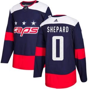 Washington Capitals Hunter Shepard Official Navy Blue Adidas Authentic Adult 2018 Stadium Series NHL Hockey Jersey
