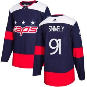 Washington Capitals Joe Snively Official Navy Blue Adidas Authentic Adult 2018 Stadium Series NHL Hockey Jersey