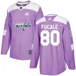 Washington Capitals Zach Fucale Official Purple Adidas Authentic Adult Fights Cancer Practice NHL Hockey Jersey