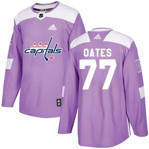 Washington Capitals Adam Oates Official Purple Adidas Authentic Adult Fights Cancer Practice NHL Hockey Jersey