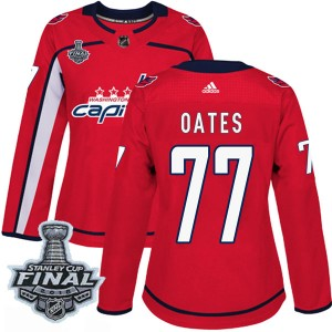 Washington Capitals Adam Oates Official Red Adidas Authentic Women's Home 2018 Stanley Cup Final Patch NHL Hockey Jersey