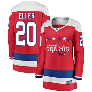 Washington Capitals Lars Eller Official Red Fanatics Branded Breakaway Women's Alternate NHL Hockey Jersey