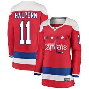 Washington Capitals Jeff Halpern Official Red Fanatics Branded Breakaway Women's Alternate NHL Hockey Jersey