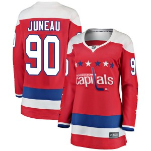 Washington Capitals Joe Juneau Official Red Fanatics Branded Breakaway Women's Alternate NHL Hockey Jersey