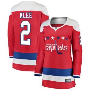 Washington Capitals Ken Klee Official Red Fanatics Branded Breakaway Women's Alternate NHL Hockey Jersey