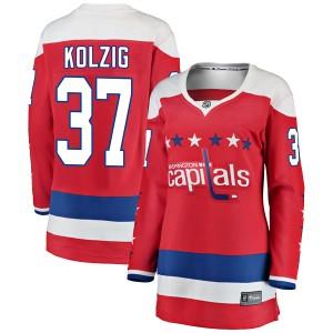 Washington Capitals Olaf Kolzig Official Red Fanatics Branded Breakaway Women's Alternate NHL Hockey Jersey