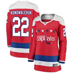 Washington Capitals Steve Konowalchuk Official Red Fanatics Branded Breakaway Women's Alternate NHL Hockey Jersey
