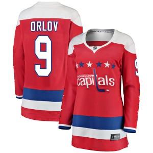 Washington Capitals Dmitry Orlov Official Red Fanatics Branded Breakaway Women's Alternate NHL Hockey Jersey