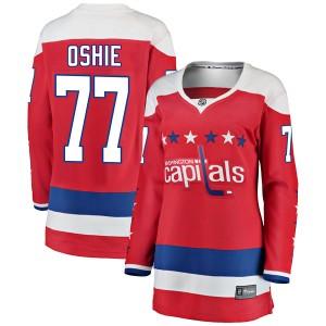 Washington Capitals T.J. Oshie Official Red Fanatics Branded Breakaway Women's Alternate NHL Hockey Jersey