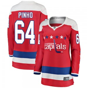 Washington Capitals Brian Pinho Official Red Fanatics Branded Breakaway Women's ized Alternate NHL Hockey Jersey