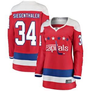 Washington Capitals Jonas Siegenthaler Official Red Fanatics Branded Breakaway Women's Alternate NHL Hockey Jersey