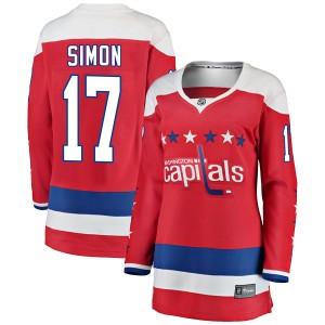 Washington Capitals Chris Simon Official Red Fanatics Branded Breakaway Women's Alternate NHL Hockey Jersey