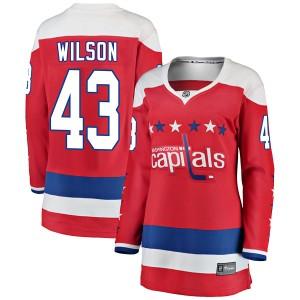 Washington Capitals Tom Wilson Official Red Fanatics Branded Breakaway Women's Alternate NHL Hockey Jersey