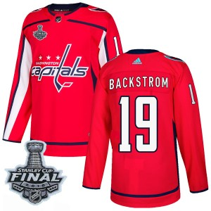 Washington Capitals Nicklas Backstrom Official Red Adidas Authentic Adult Home 2018 Stanley Cup Final Patch NHL Hockey Jersey
