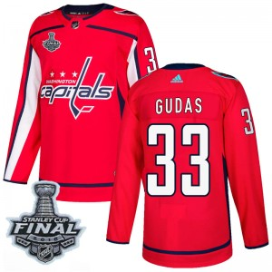 Washington Capitals Radko Gudas Official Red Adidas Authentic Adult Home 2018 Stanley Cup Final Patch NHL Hockey Jersey