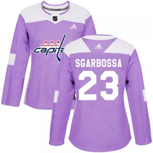 Washington Capitals Michael Sgarbossa Official Purple Adidas Authentic Women's Fights Cancer Practice NHL Hockey Jersey