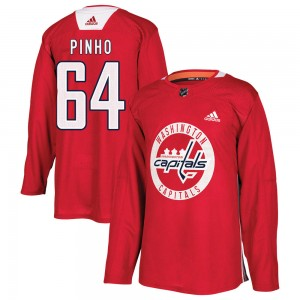 Washington Capitals Brian Pinho Official Red Adidas Authentic Youth ized Practice NHL Hockey Jersey