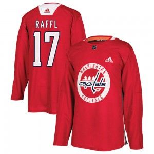 Washington Capitals Michael Raffl Official Red Adidas Authentic Youth Practice NHL Hockey Jersey