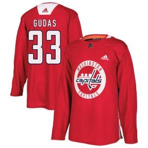 Washington Capitals Radko Gudas Official Red Adidas Authentic Adult Practice NHL Hockey Jersey