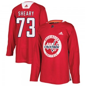 Washington Capitals Conor Sheary Official Red Adidas Authentic Adult Practice NHL Hockey Jersey