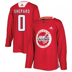 Washington Capitals Hunter Shepard Official Red Adidas Authentic Adult Practice NHL Hockey Jersey