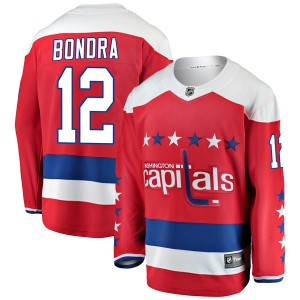 Washington Capitals Peter Bondra Official Red Fanatics Branded Breakaway Youth Alternate NHL Hockey Jersey