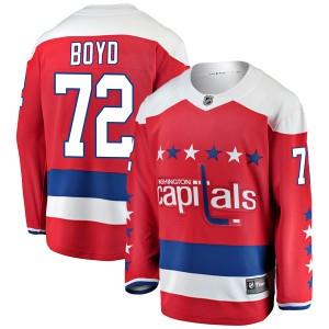 Washington Capitals Travis Boyd Official Red Fanatics Branded Breakaway Youth Alternate NHL Hockey Jersey