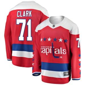 Washington Capitals Kody Clark Official Red Fanatics Branded Breakaway Youth Alternate NHL Hockey Jersey