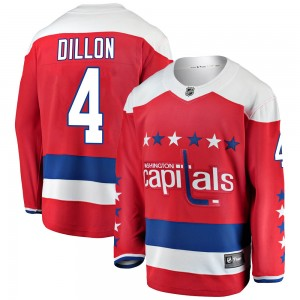 Washington Capitals Brenden Dillon Official Red Fanatics Branded Breakaway Youth ized Alternate NHL Hockey Jersey