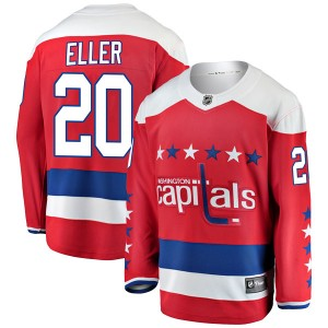 Washington Capitals Lars Eller Official Red Fanatics Branded Breakaway Youth Alternate NHL Hockey Jersey