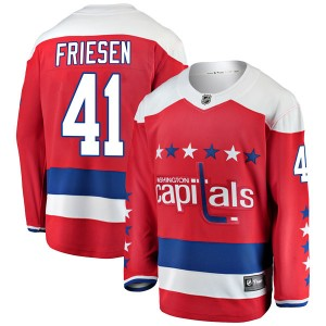 Washington Capitals Jeff Friesen Official Red Fanatics Branded Breakaway Youth Alternate NHL Hockey Jersey