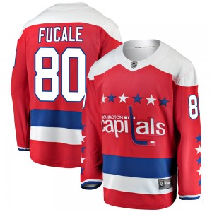 Washington Capitals Zach Fucale Official Red Fanatics Branded Breakaway Youth Alternate NHL Hockey Jersey