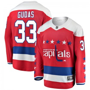 Washington Capitals Radko Gudas Official Red Fanatics Branded Breakaway Youth Alternate NHL Hockey Jersey