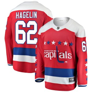 Washington Capitals Carl Hagelin Official Red Fanatics Branded Breakaway Youth Alternate NHL Hockey Jersey