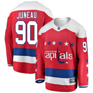 Washington Capitals Joe Juneau Official Red Fanatics Branded Breakaway Youth Alternate NHL Hockey Jersey