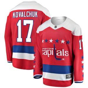 Washington Capitals Ilya Kovalchuk Official Red Fanatics Branded Breakaway Youth ized Alternate NHL Hockey Jersey