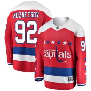 Washington Capitals Evgeny Kuznetsov Official Red Fanatics Branded Breakaway Youth Alternate NHL Hockey Jersey
