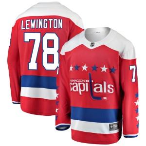Washington Capitals Tyler Lewington Official Red Fanatics Branded Breakaway Youth ized Alternate NHL Hockey Jersey