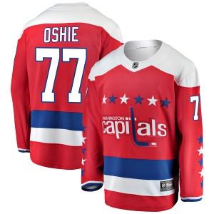 Washington Capitals T.J. Oshie Official Red Fanatics Branded Breakaway Youth Alternate NHL Hockey Jersey