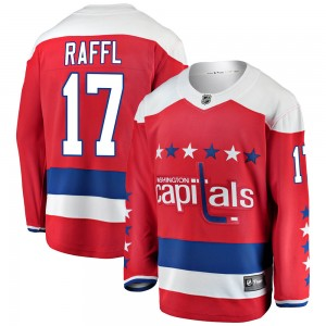Washington Capitals Michael Raffl Official Red Fanatics Branded Breakaway Youth Alternate NHL Hockey Jersey