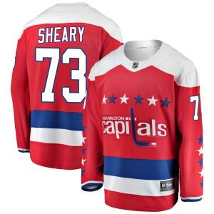 Washington Capitals Conor Sheary Official Red Fanatics Branded Breakaway Youth Alternate NHL Hockey Jersey