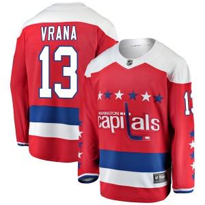 Washington Capitals Jakub Vrana Official Red Fanatics Branded Breakaway Youth Alternate NHL Hockey Jersey