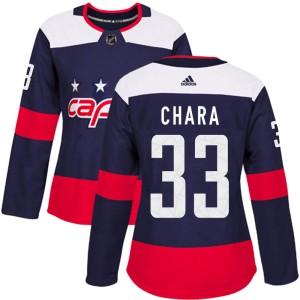 Washington Capitals Zdeno Chara Official Navy Blue Adidas Authentic Women's 2018 Stadium Series NHL Hockey Jersey