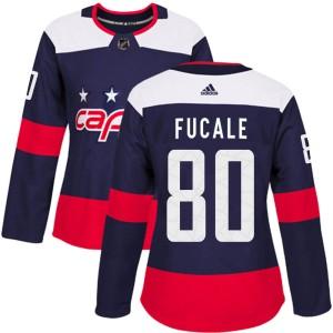Washington Capitals Zach Fucale Official Navy Blue Adidas Authentic Women's 2018 Stadium Series NHL Hockey Jersey