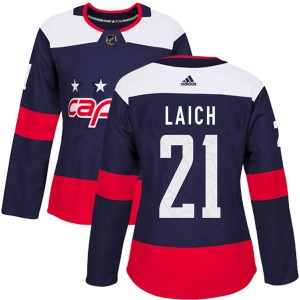 Washington Capitals Brooks Laich Official Navy Blue Adidas Authentic Women's 2018 Stadium Series NHL Hockey Jersey