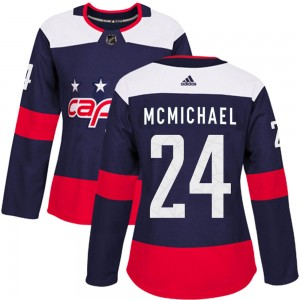 Washington Capitals Connor McMichael Official Navy Blue Adidas Authentic Women's ized 2018 Stadium Series NHL Hockey Jersey
