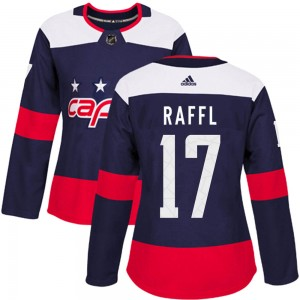 Washington Capitals Michael Raffl Official Navy Blue Adidas Authentic Women's 2018 Stadium Series NHL Hockey Jersey