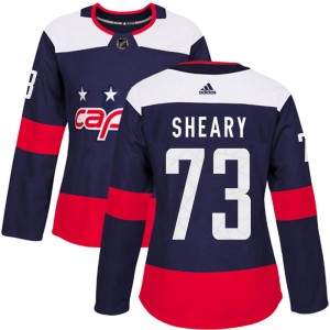 Washington Capitals Conor Sheary Official Navy Blue Adidas Authentic Women's 2018 Stadium Series NHL Hockey Jersey