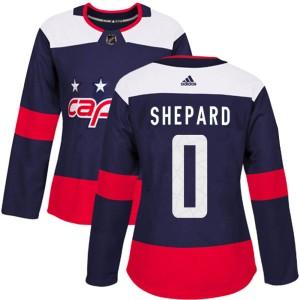 Washington Capitals Hunter Shepard Official Navy Blue Adidas Authentic Women's 2018 Stadium Series NHL Hockey Jersey